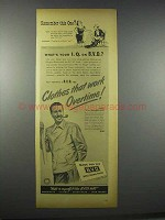1944 B.V.D. Rogue Shirts Ad - Clothes Work Overtime