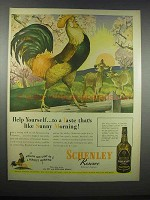 1944 Schenley Reserve Whisky Ad - Help Yourself