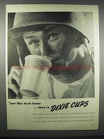 1944 Dixie Cups Ad - Just Like Back Home