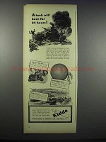 1944 Kidde Fire Extinguishers Ad - A Tank Will Burn