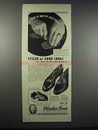 1943 W.L. Douglas Shoes Ad - Commander and Wingate