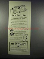 1943 The Mutual Life Insurance Company of New York Ad