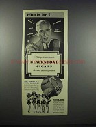 1943 Blackstone Cigars Ad - Who is He?