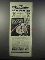 1943 Sunbeam Shavemaster Razor Ad - Keeps 'em Shaving