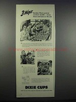 1943 Dixie Cups Ad - Bomber Plants Protect Workers