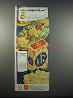 1943 Nabisco Ritz Crackers Ad - Salads Different