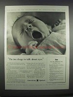 1943 American Optical Ad - I'm too Sleepy
