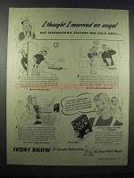 1943 Ivory Snow Ad - I Thought I Married an Angel