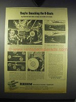 1943 Rheem Depth Bombs Ad - Smaking the U-Boats