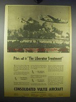 1943 Consolidated Liberator Bomber Ad - The Treatment