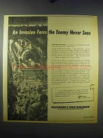 1943 Baltimore & Ohio Railroad Ad - An Invasion Force