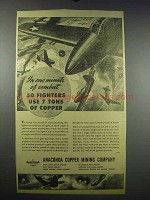 1943 Anaconda Copper Mining Ad - One Minute of Combat