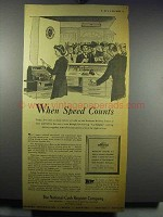 1943 National Cash Register Ad - When Speed Counts