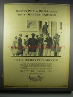 1942 Rogers Peet Regulation Army Officers' Uniforms Ad