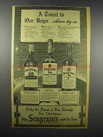 1942 Seagram's Five Crown, V.O. & Seven Crown Whisky Ad