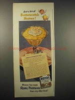 1942 Royal Butterscotch Pudding Ad - Pineapple Royal