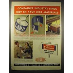 1942 Du Pont Cellophane Ad - Save War Materials