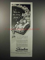 1942 Skinless Frankfurters & Wieners Ad - In the Army