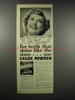 1939 Calox Tooth Powder Ad - Anita Louise