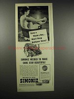 1939 Simoniz Wax Ad - Even a Wash A Day