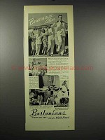 1939 Bostonians Shoes Ad - Clayton Rivoli Monk Malvern