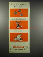1939 White Rock Water Ad - 2/3rds of a Highball