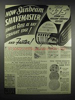 1939 Sunbeam Shavemaster 475 Ad - Shaves Close