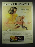 1939 Schick Dry Shaver Ad - Give Him Schick's Appeal