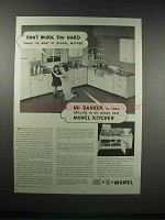1938 International Nickel Monel Kitchen Ad - Work Hard