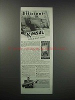 1938 Kimberly-Clark Kimsul Blanket Insulation Ad - Efficient