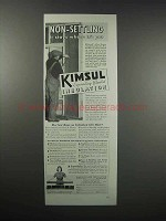 1938 Kimberly-Clark Kimsul Blanket Insulation Ad - Non-Settling