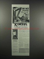 1938 Kimberly-Clark Kimsul Blanket Insulation Ad