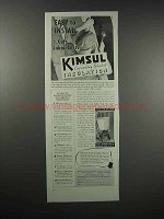 1938 Kimberly-Clark Kimsul Blanket Insulation Ad - Easy to Install