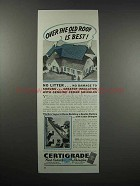 1938 Certigrade Red Cedar Shingles Ad - Over Old Roof