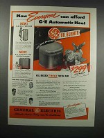 1938 General Electric Oil Burner & Oil Furnace Ad
