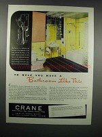 1938 Crane Bathroom Fixtures Ad - Help You Have