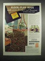 1938 Alexander Smith Floor-Plan Rugs Ad - Harrie Wood