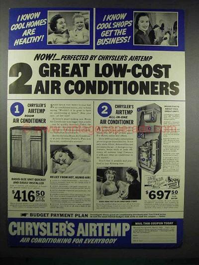 1938 Chrysler S Airtemp Air Conditioner Ad