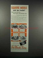 1938 Del Monte Tuna Ad - Square Meals