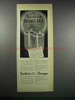 1938 Sunkist Valencia Oranges Ad - Sale At Dealers