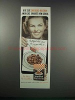 1938 Shredded Ralston Cereal Ad - Bite Size