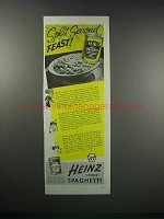 1938 Heinz Cooked Spaghetti Ad - Split Second Feast