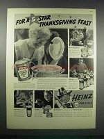 1938 Heinz Foods Ad - 5 Star Thanksgiving Feast