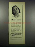 1938 Gem Razor and Blades Ad - If I Were A Man
