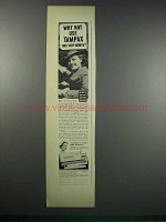 1938 Tampax Tampons Ad - Why Not Use?