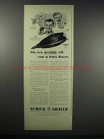 1938 Schick Shaver Ad - Men, Inevitably, Will Come To