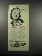 1938 Squibb Dental Cream Ad - Certain of Admiring Eyes