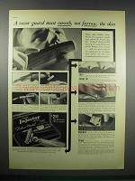 1938 Schick Deluxe Model Injector Razor Ad - A Guard