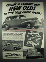 1939 Oldsmobile Sixty, Eighty and Seventy Car Ad