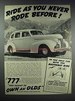 1939 Oldsmobile 60 4-Door Sedan Ad - Never Rode Before
